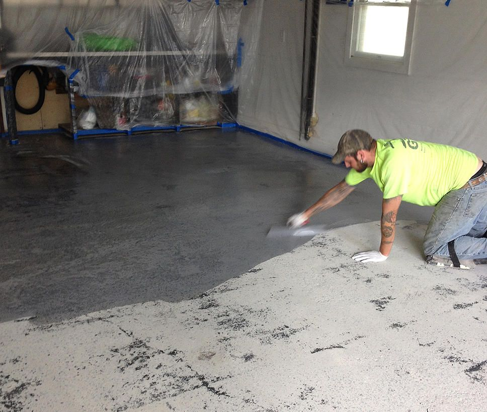 Urethane Mortar System Flash Coat Applied to Concrete