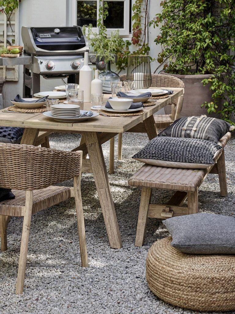 AVIA Rattan garden bench Buy now at Habitat UK Sillas