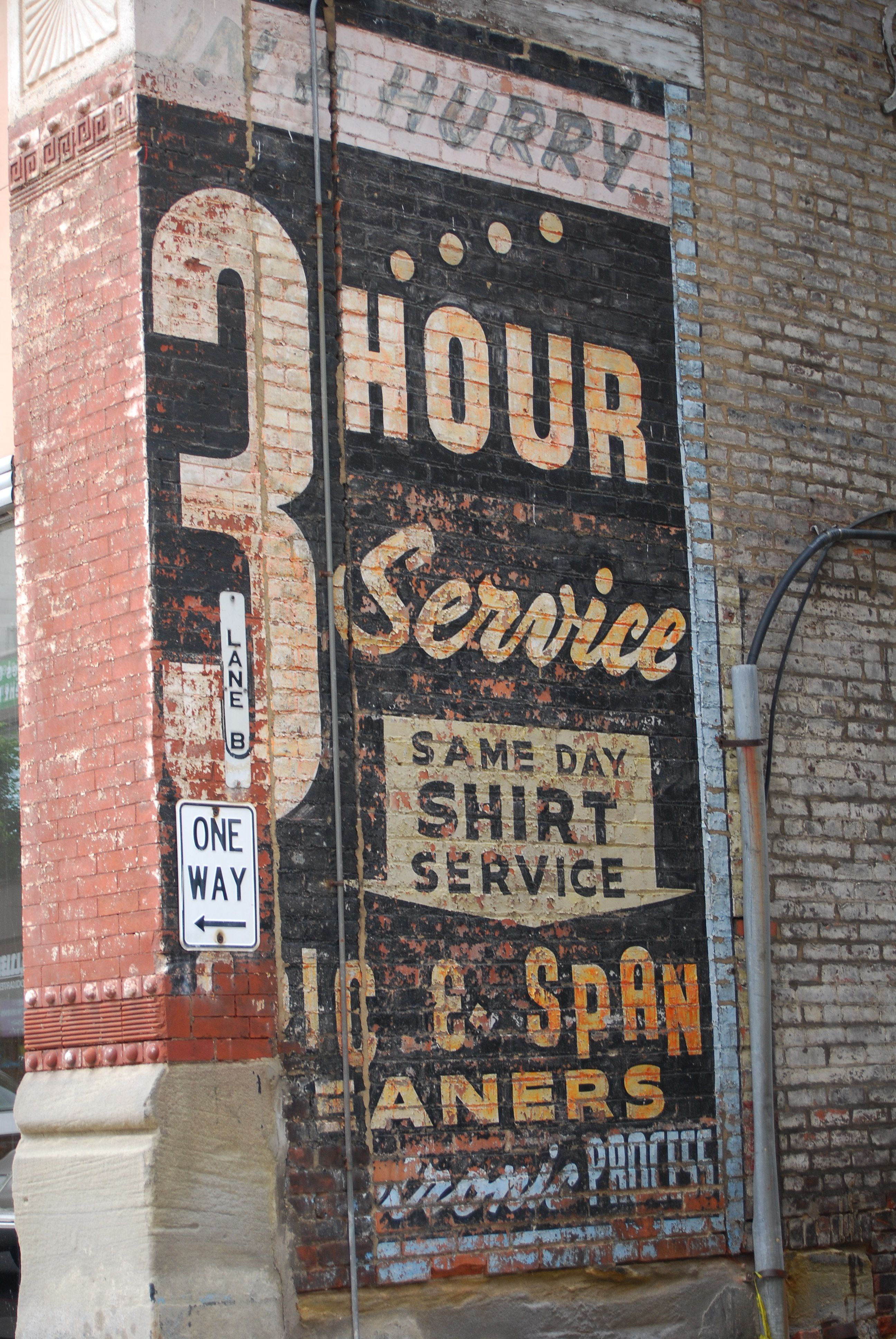 Laundry Sign I Love The Vintage Ads Painted On Brick