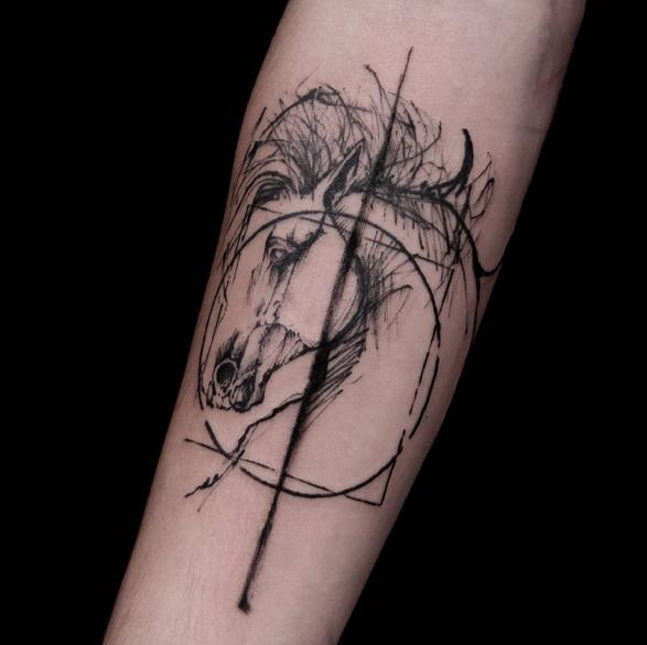Tatouage ligne de vie cheval - Tattoo ligne de vie ...