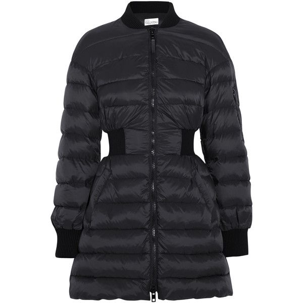 REDValentino Quilted shell coat ($390) ❤ liked on Polyvore featuring  outerwear, coats,