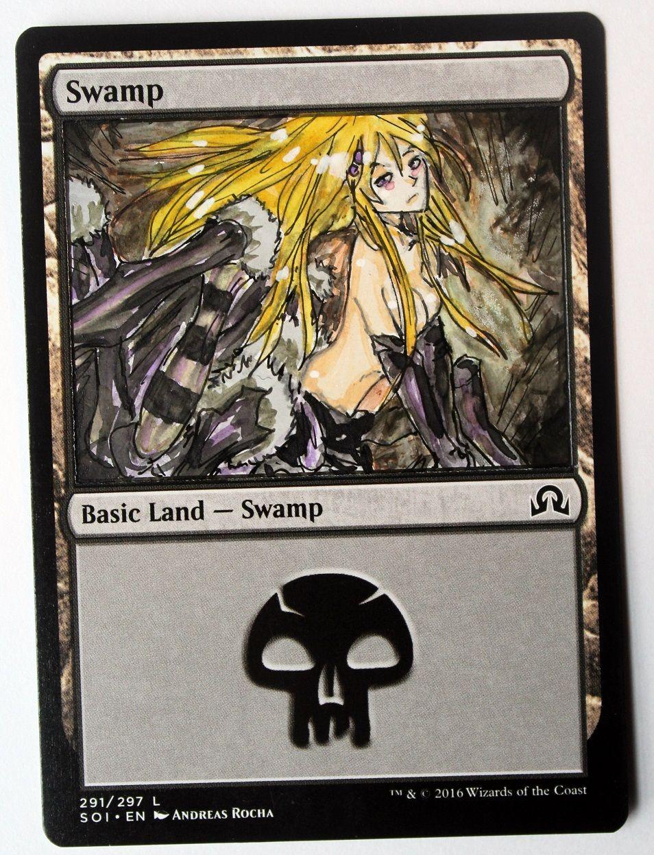 1x Altered Art Swamp Custom Basic Land non-Foil MTG CARTE