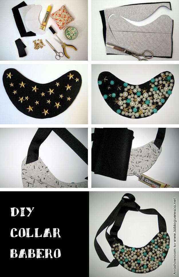 DIY Collar babero | La Blogueresca … | Patrones | Pinte…