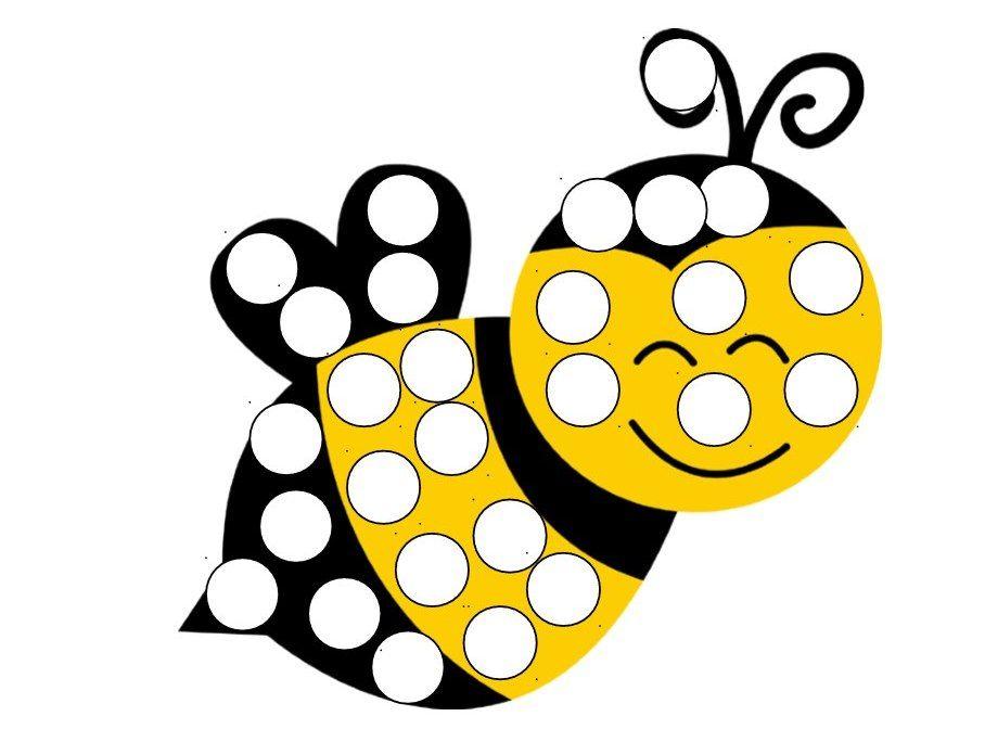 Шаблоны для пальчикового рисования - насекомые ...