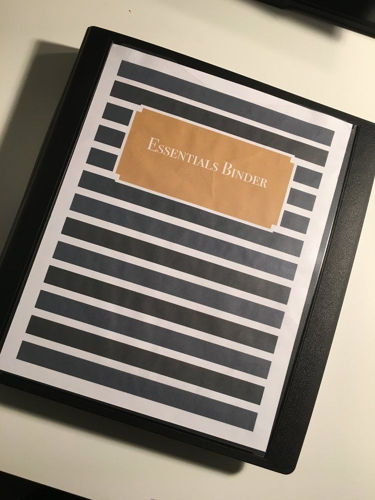 Important Document Binder #importantdocuments