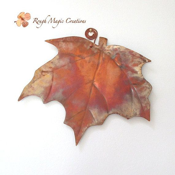 Our Metal Maple Leaf Collection Of Rustic Copper Wall