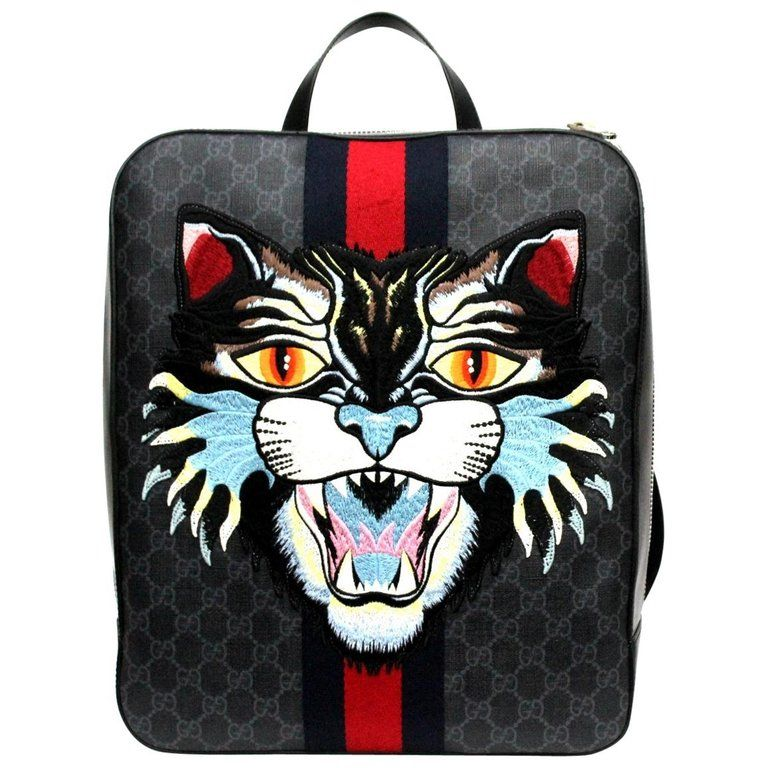b97eb2d338ab Gucci GG Supreme Canvas Angry Cat Backpack in 2019 | Products ...