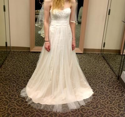 1ee3f28246cd6 DB Strapless A Line Beaded Lace Tulle Gown Style WG3586 | My Wedding ...