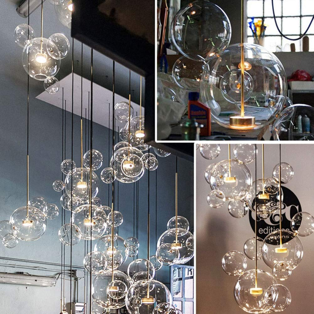 GaLon Nordic Restaurant Bubble Ball LED Chandelier Bar Window