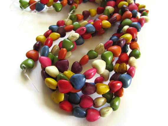 Natural Howlite Beads Disc Shape Mixed Color /& Size Dyed