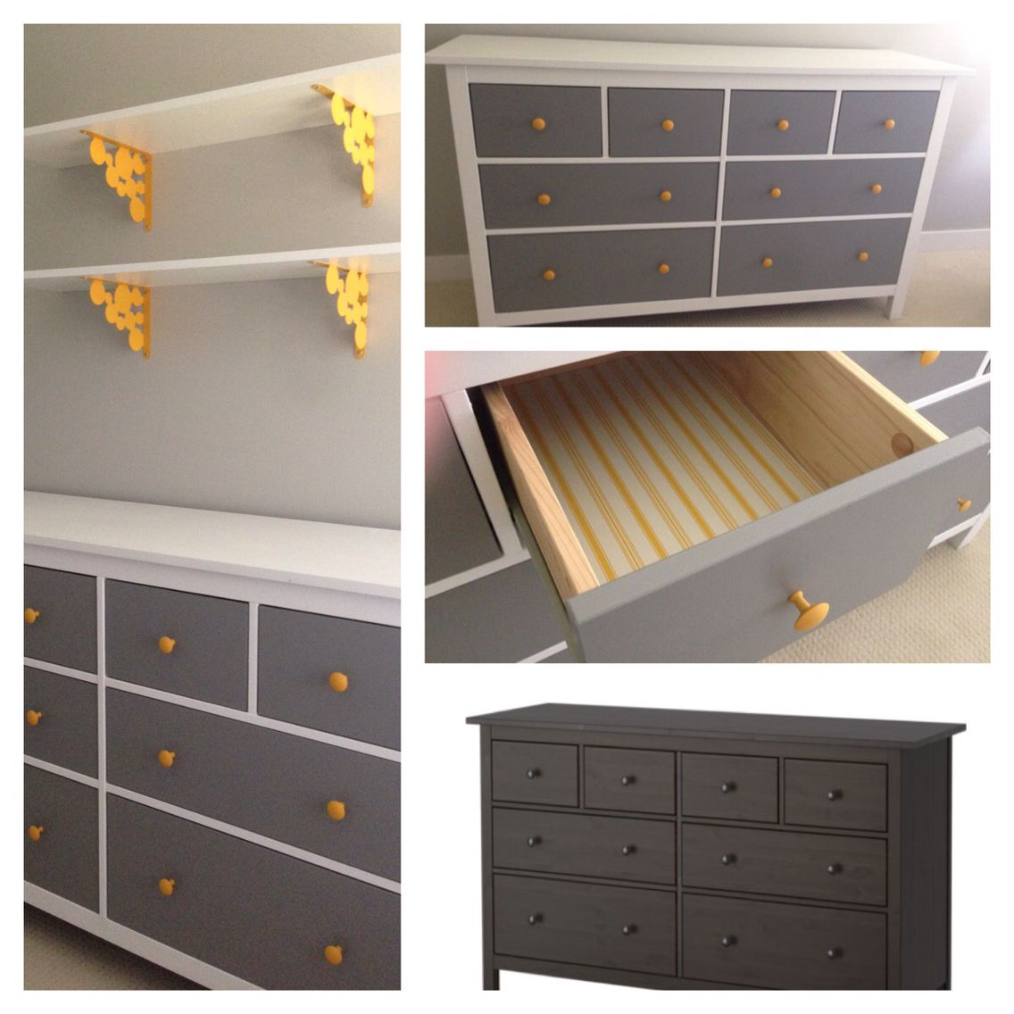black-brown ikea hemnes dresser repainted and repurposed for babies