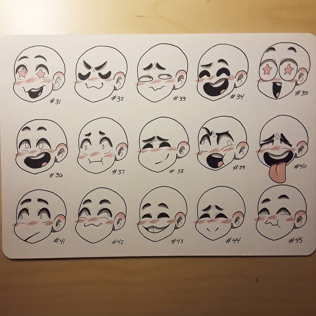 Alley Wong On Instagram The Third Sheet Of Expressions Sorry For Not Posting Anything Fo Drawing Expressions Drawing Face Expressions Art Reference Photos