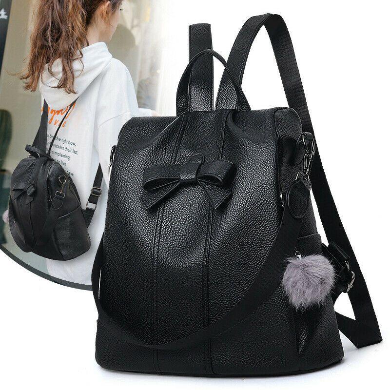 6b593f002b6 Women Anti-Theft Backpack Travel Shoulder Bag Girls Ladies PU ...