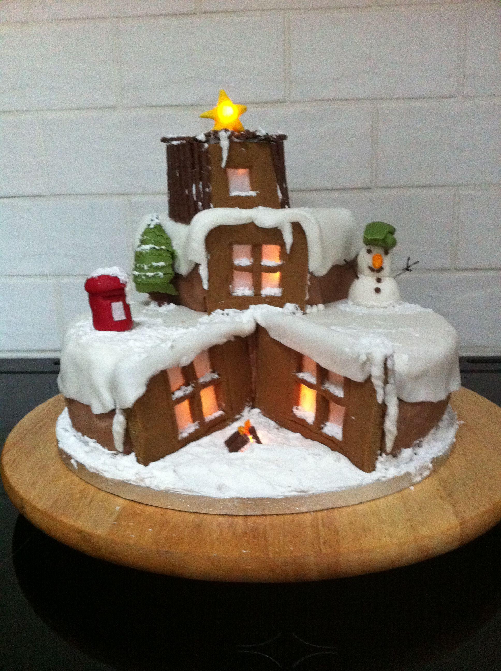 Christmas cake with lights christmas cake cake desserts