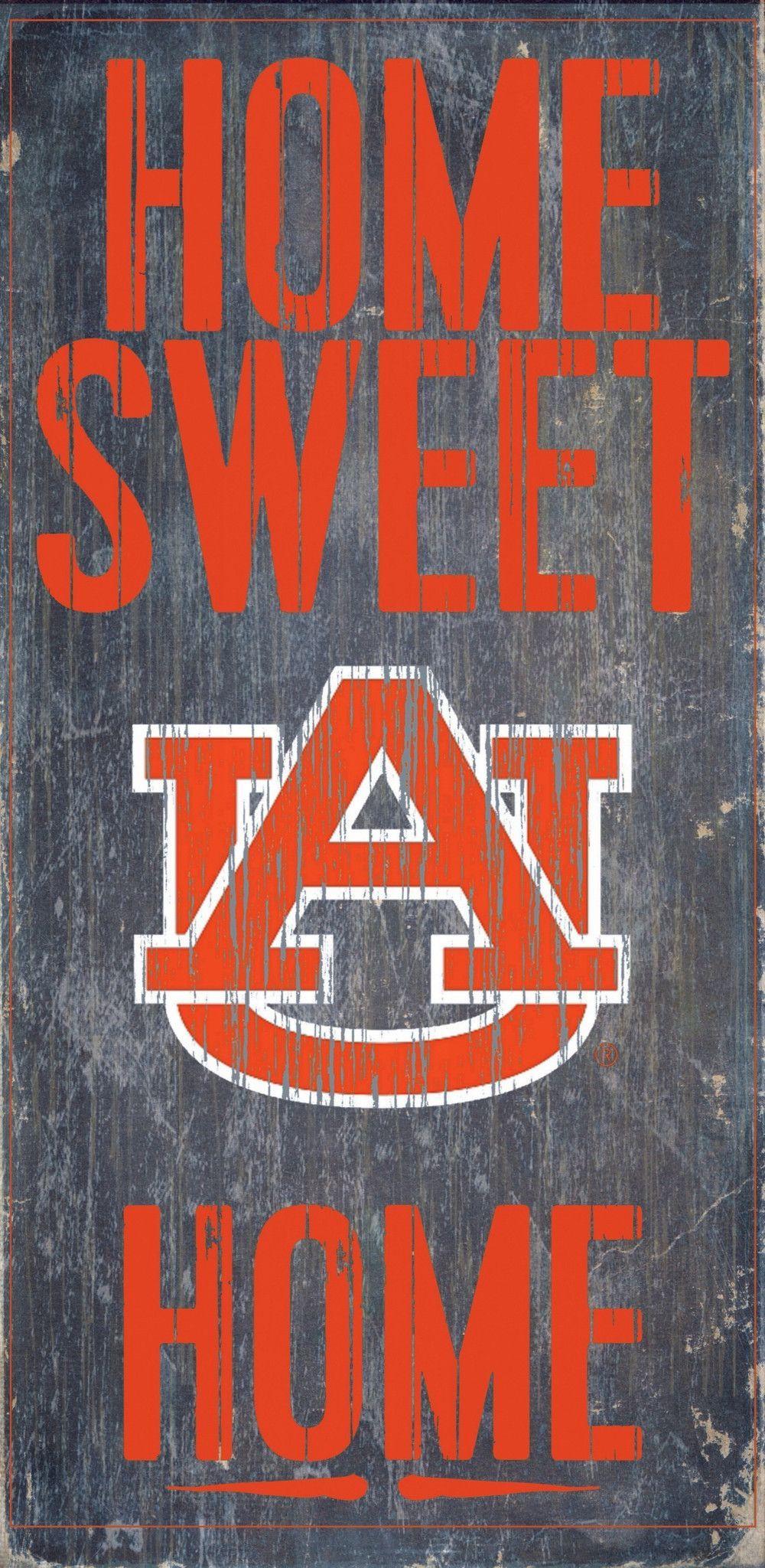 Auburn Tigers Wood Sign Home Sweet Home