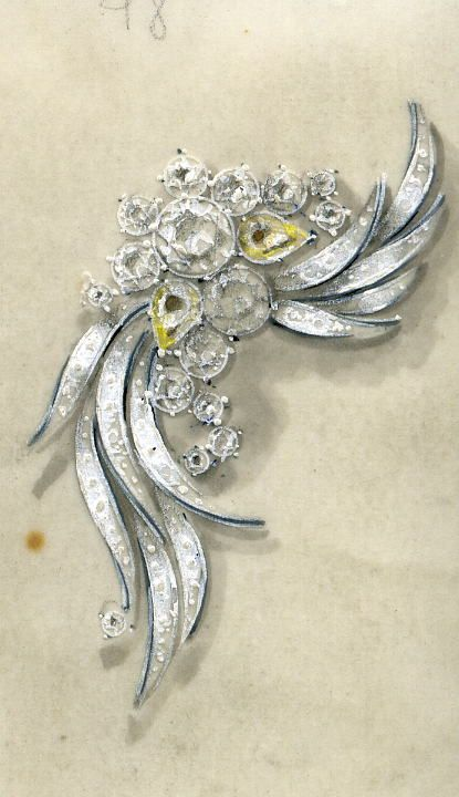 Bijoux et pierres precieuses les bijoux des ann es 60 70 gouach s jewel sketch bijoux - Dessin annee 60 ...