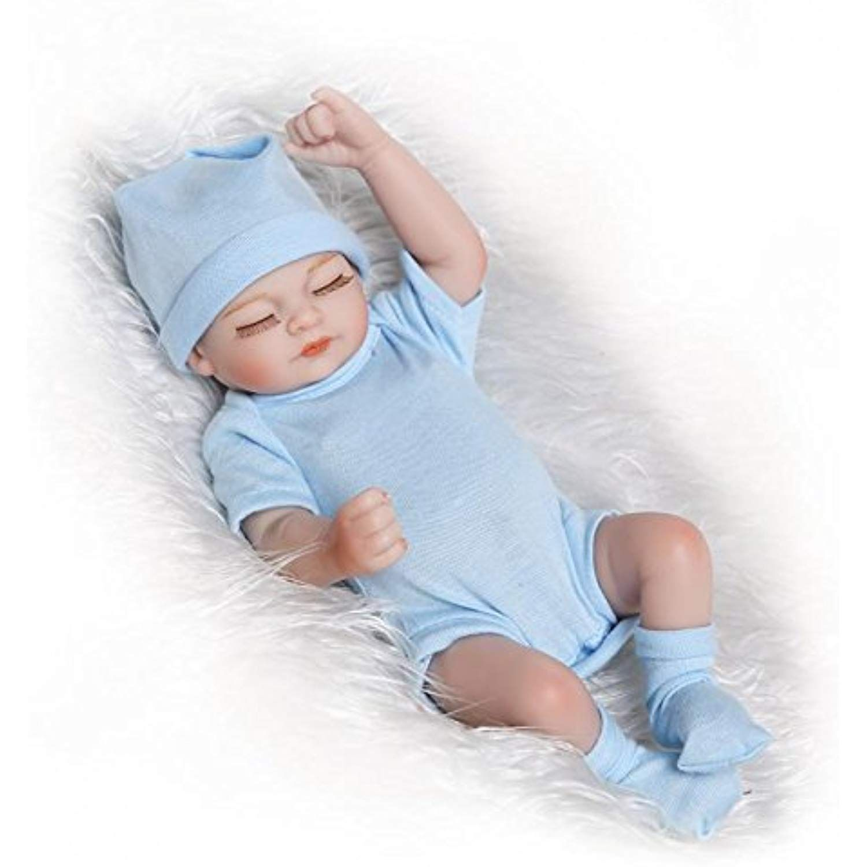 Pinky 26cm 10 Inch Mini Full Body Hard Vinyl Silicone Newborn Dolls Simulation Lifelike Reborn Baby Doll Baby Bath Toys Newborn Toys Reborn Baby Girl