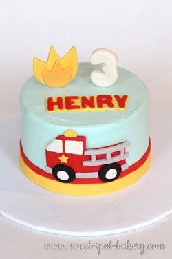 Strange Fire Truck Birthday Cake Toddler Boy Cake With Images Truck Personalised Birthday Cards Veneteletsinfo