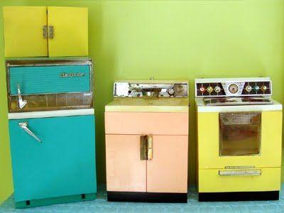 Vintage Play Kitchen Set.