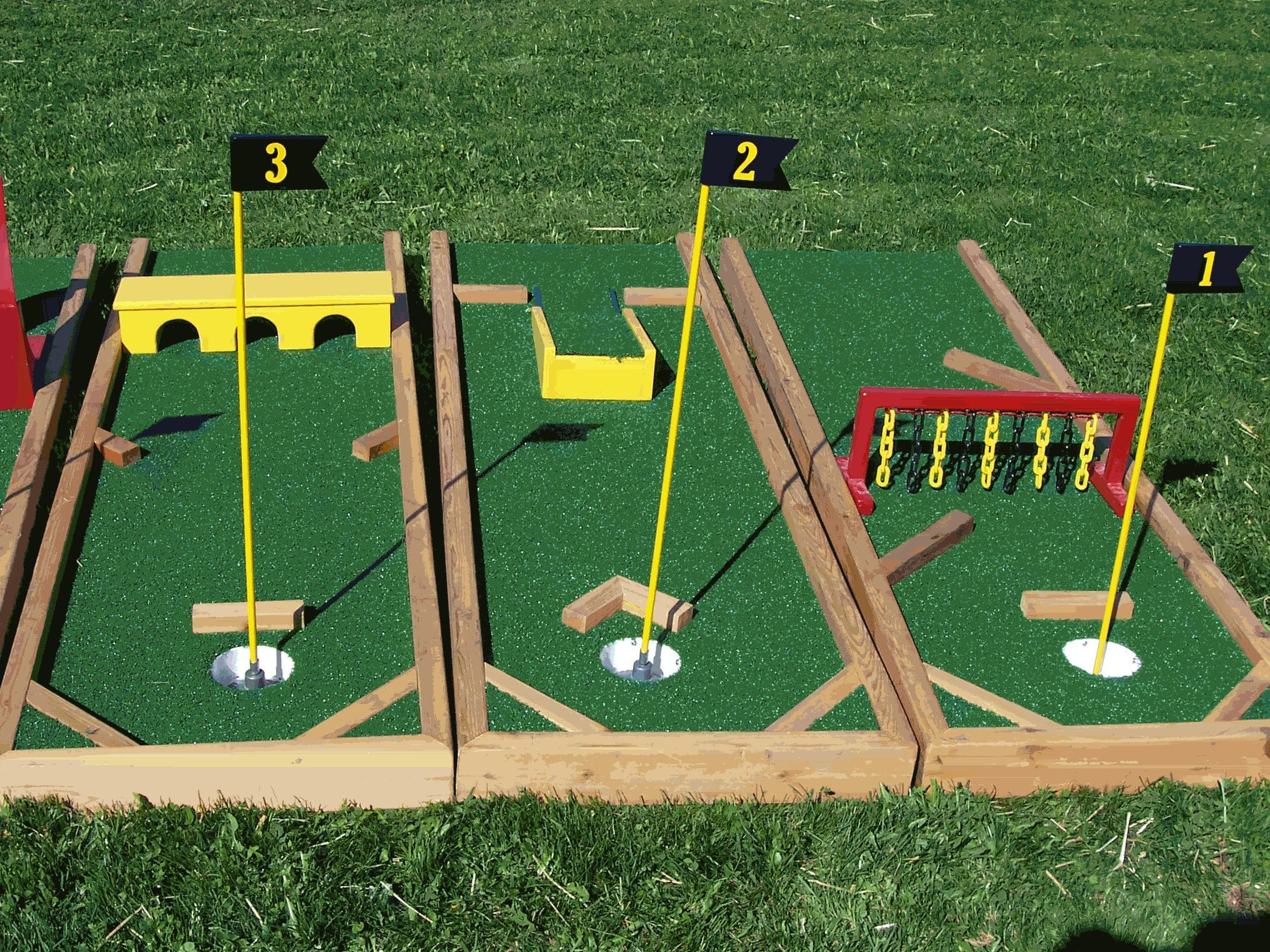 diy mini golf obstacles crafts diy pinterest spiel. Black Bedroom Furniture Sets. Home Design Ideas