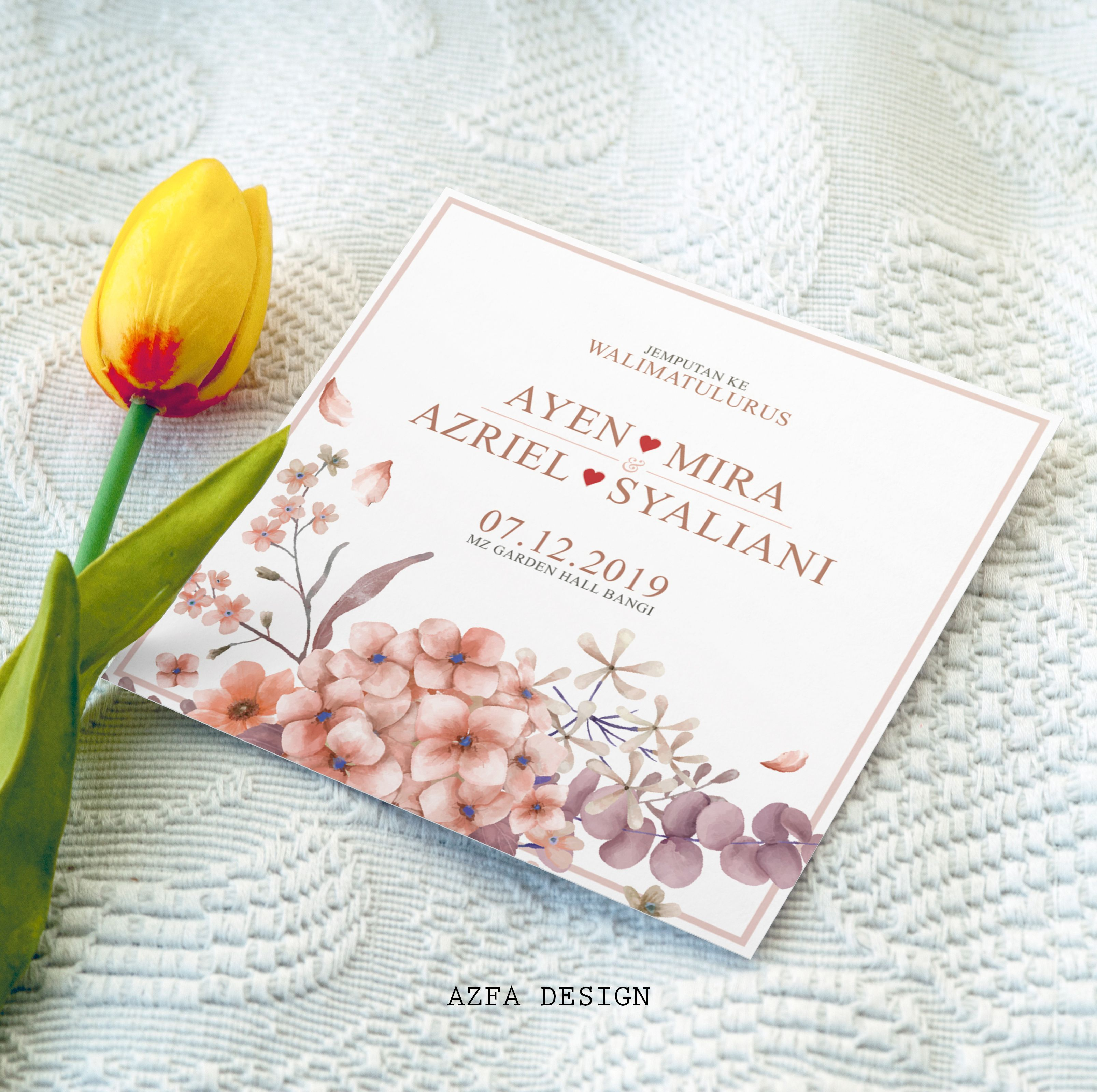 Azfadesign Kadkahwin Majlis Perkahwinan Anda Sunyi Sepi Tanpa Kehadiran Tetamu Yelah Busy Sampai Lupa Settle Kad Kahwi Invitation Cards Cards Invitations