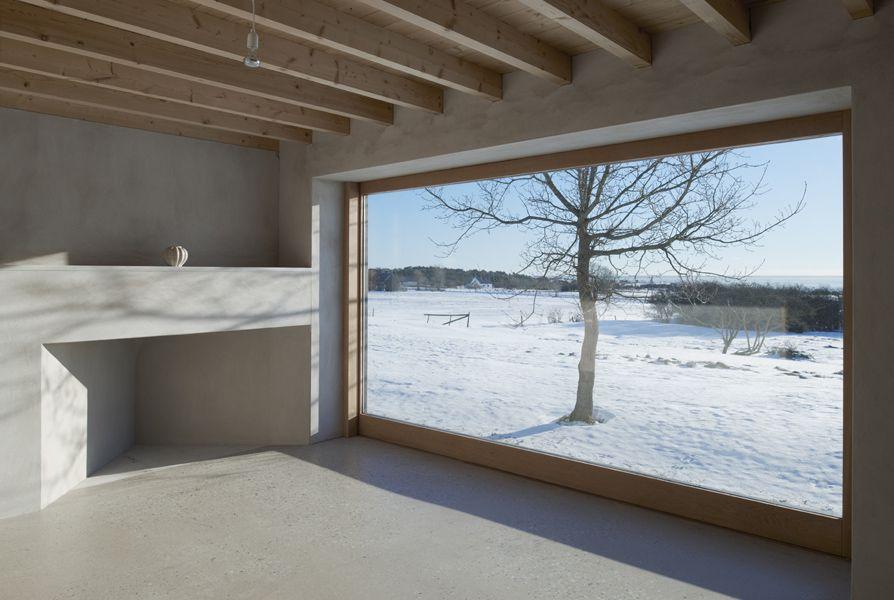 Broad Window in Atrium House
