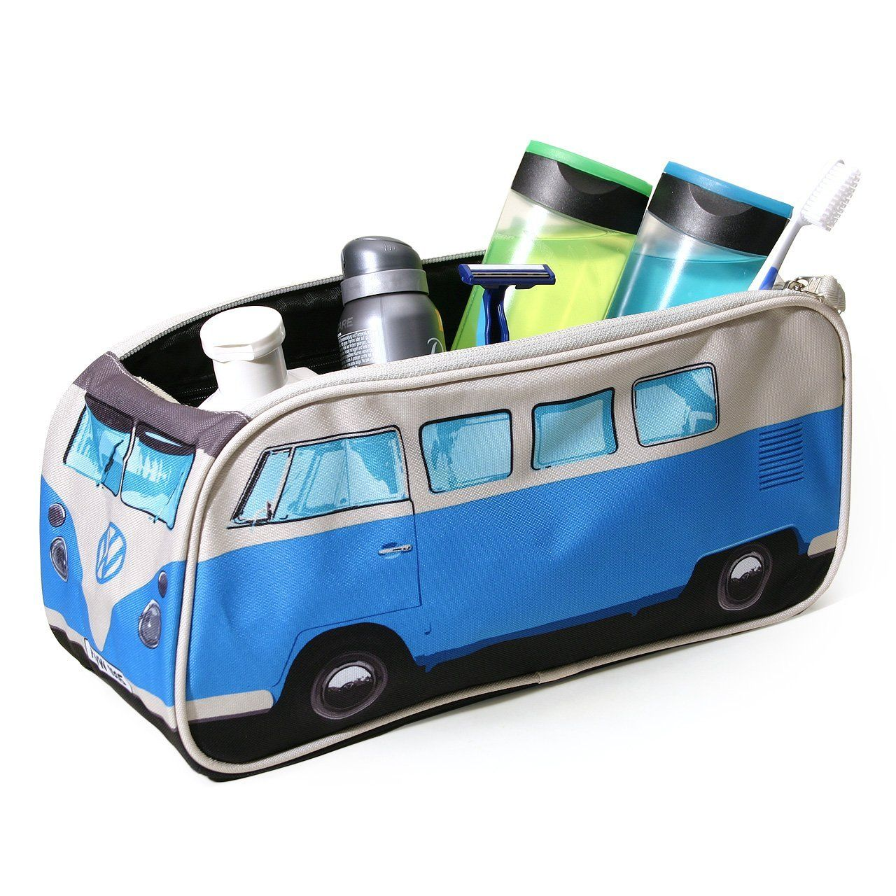 kulturtasche vw bus bulli t1 in blau vw bulli vw bus. Black Bedroom Furniture Sets. Home Design Ideas