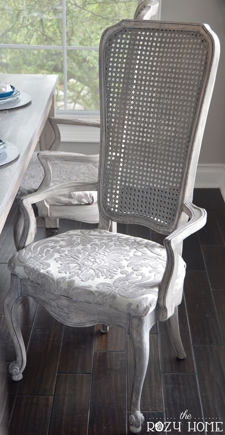 Elegant Cane Chair Redo. Found Out How I Took Four Smoky, Ugly Cane Chairs And