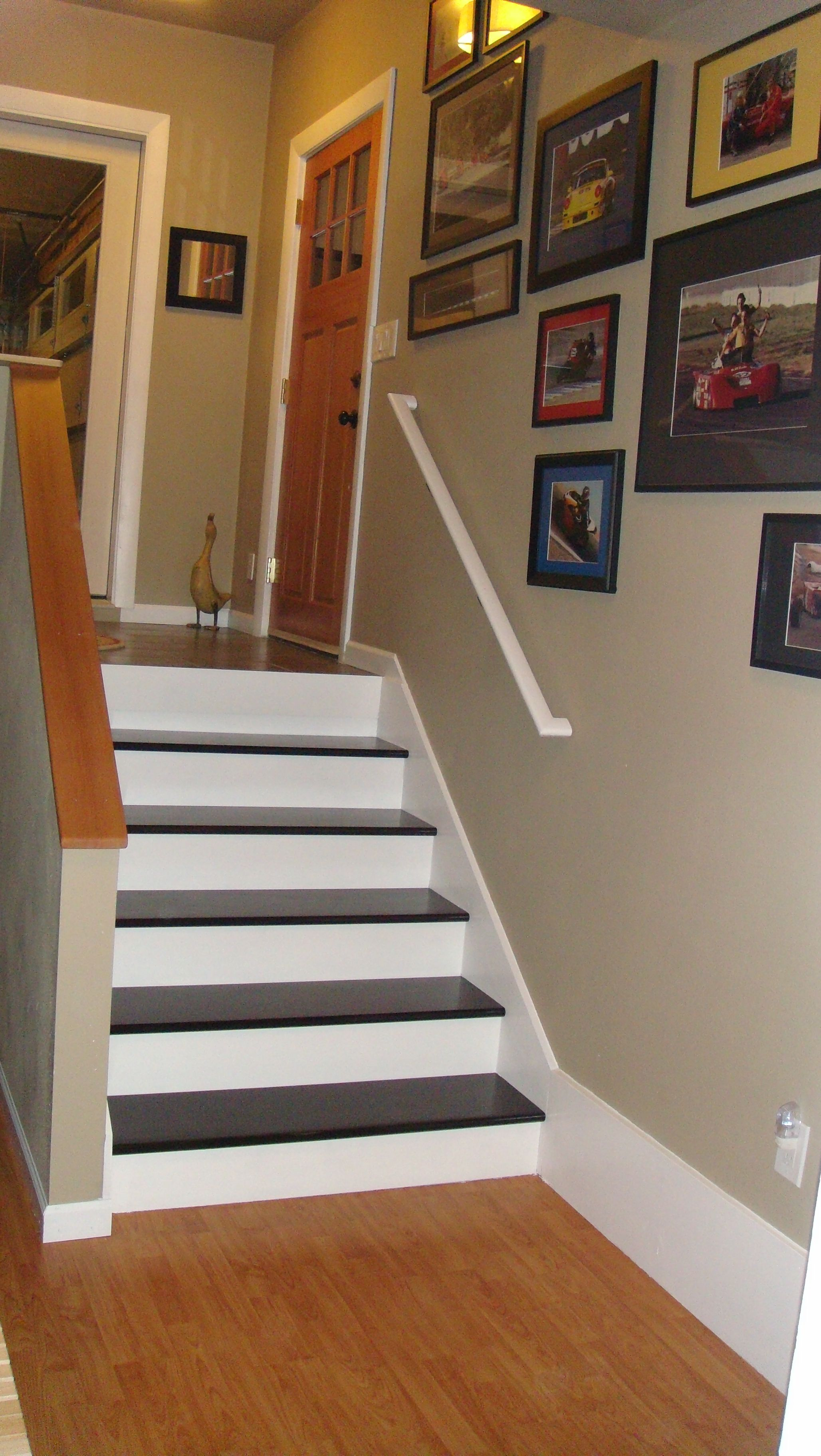 Best Weekend Project Done Stairs In And Painted Dark Cherry 400 x 300