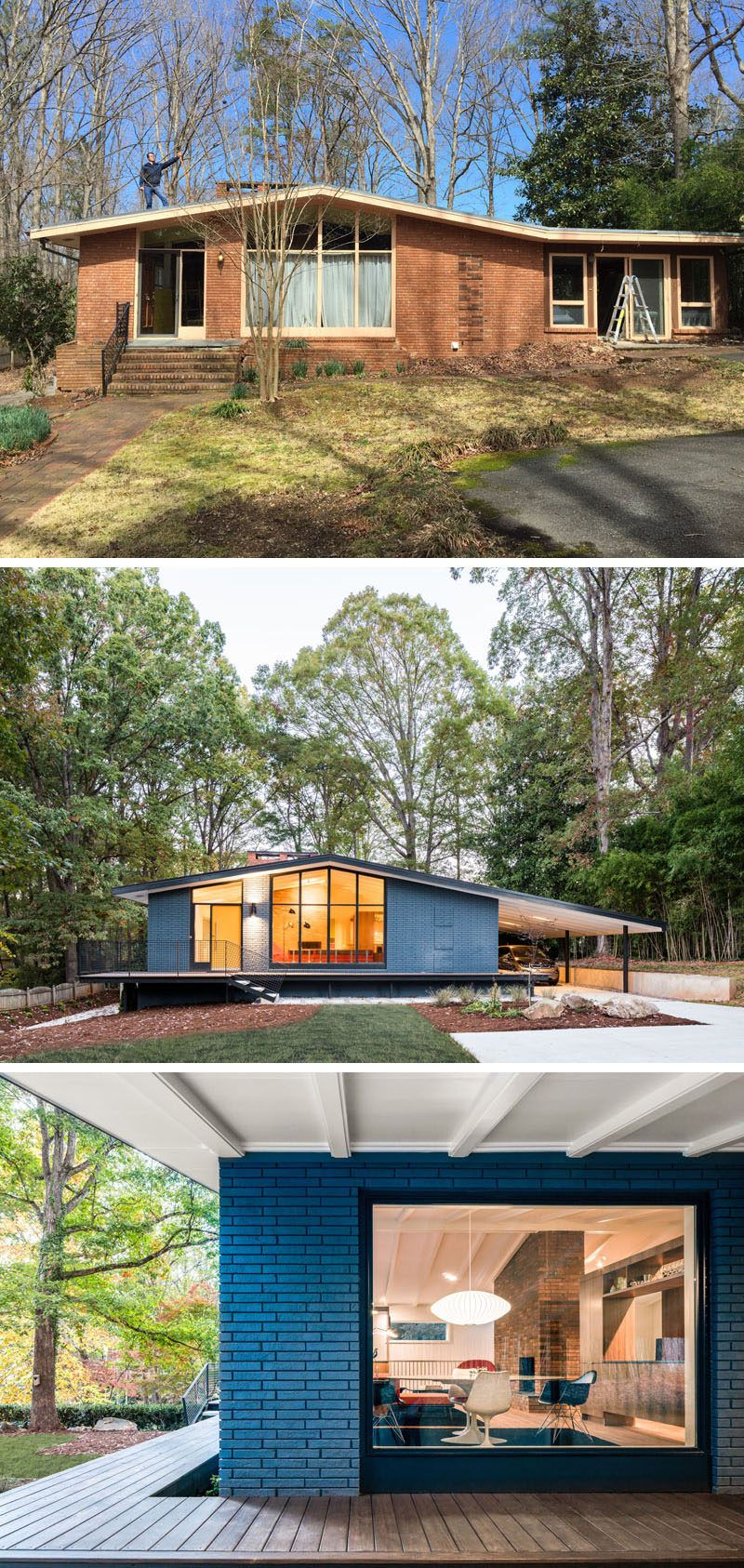 34 Samples Of Modern Houses Most Popular Exterior Design: This Mid-Century Modern House In North Carolina Received A Fresh Update