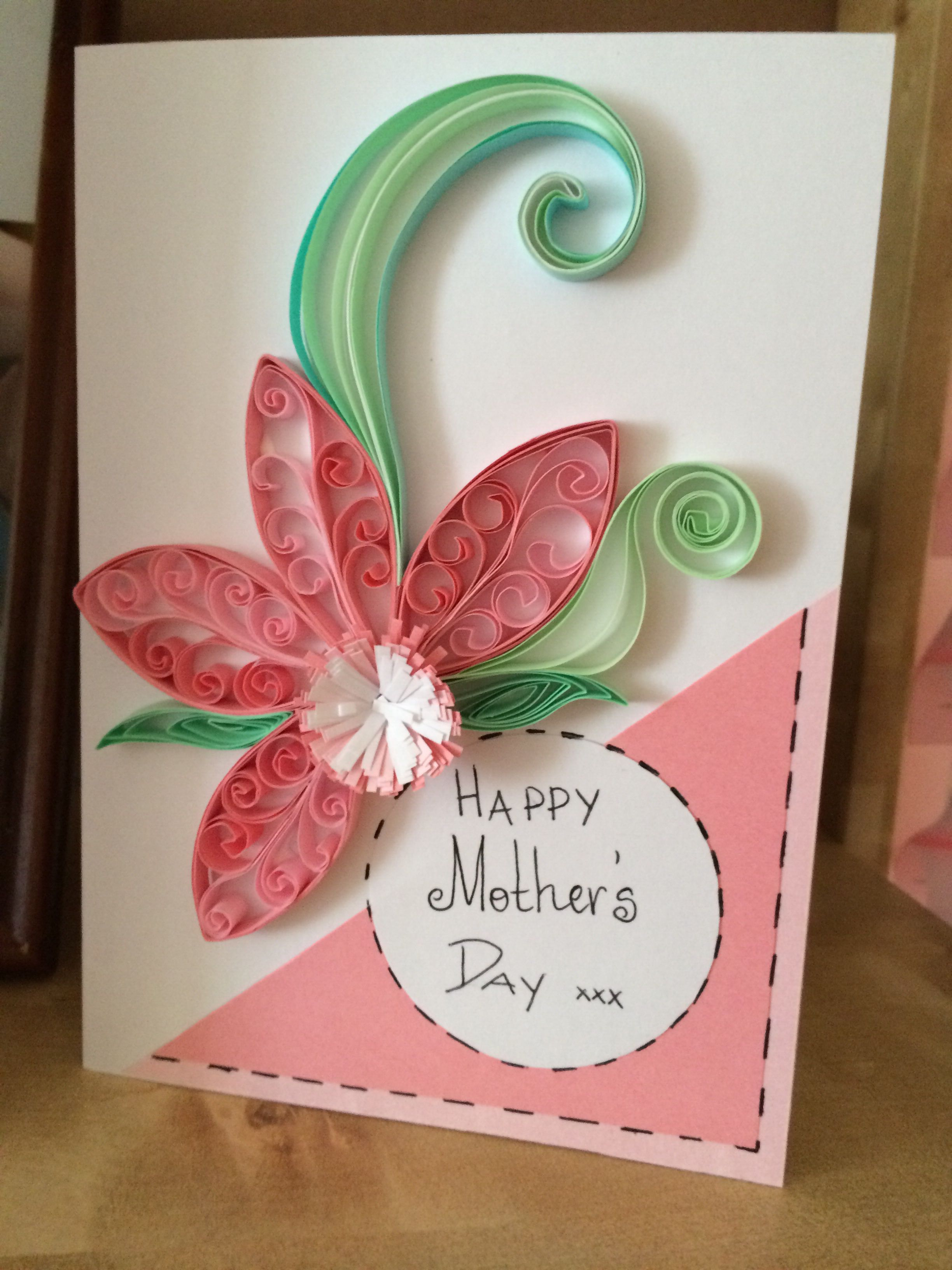 Quilled mother\'s day card | cards | Pinterest | Quilling, Cards and ...