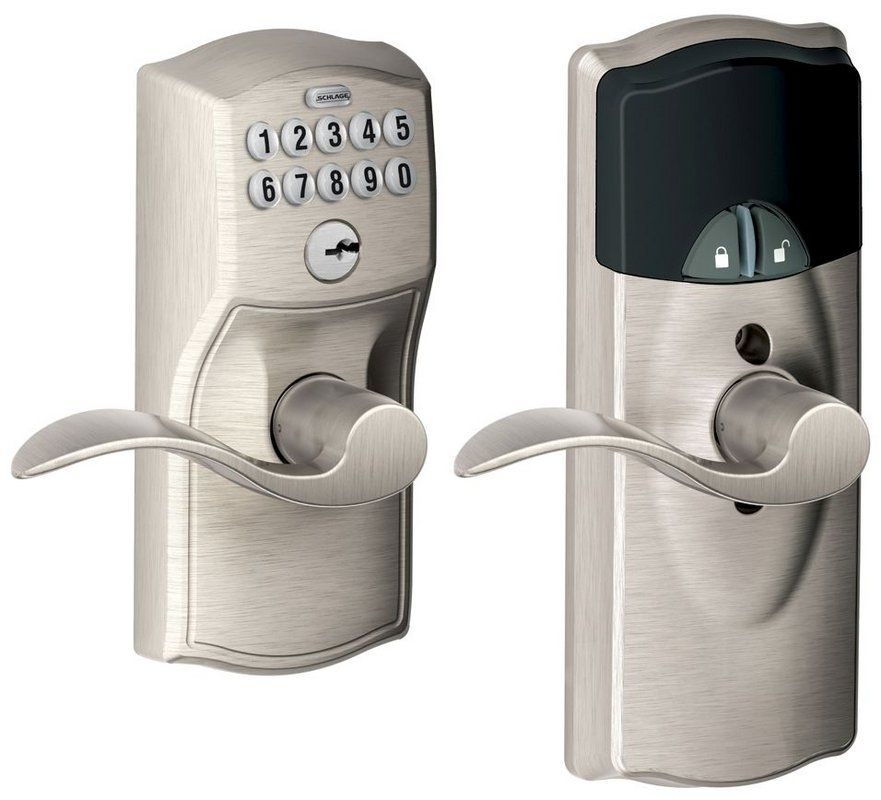 Schlage Fe599nxcam505acc Lifetime Polished Brass Home Keypad Lever With Z Wave Technology Keypad Lock Schlage Smart Door Locks