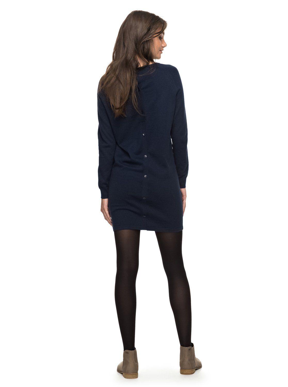 231968ccac31 Winter Story - Langarm-Kleid mit Knopfleiste für Frauen | Fall for ...