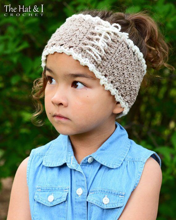 CROCHET PATTERN - Cottage Chic Head Wrap - crochet headband pattern ...