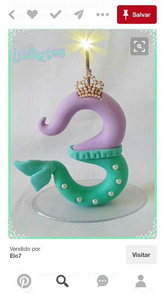 Vela N/úmero 6 Princesas Disney