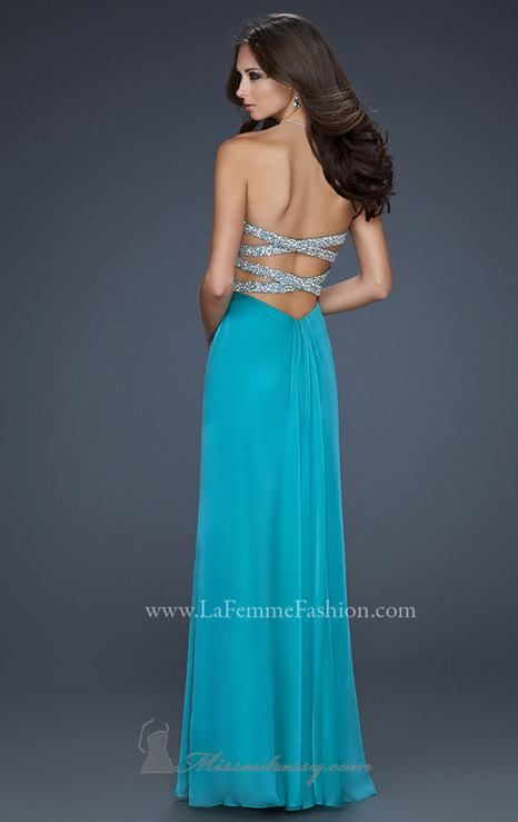 Back-but a different color, I like the lighter blue better $398.00 Dress 17437