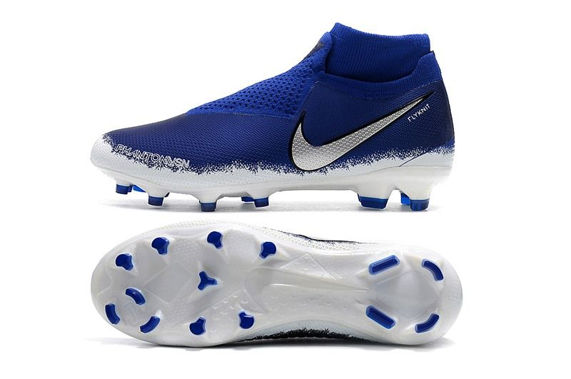 1c317bb1ce9ad Botas de Fútbol Nike Phantom Vision Elite DF FG - Azul Plata ...