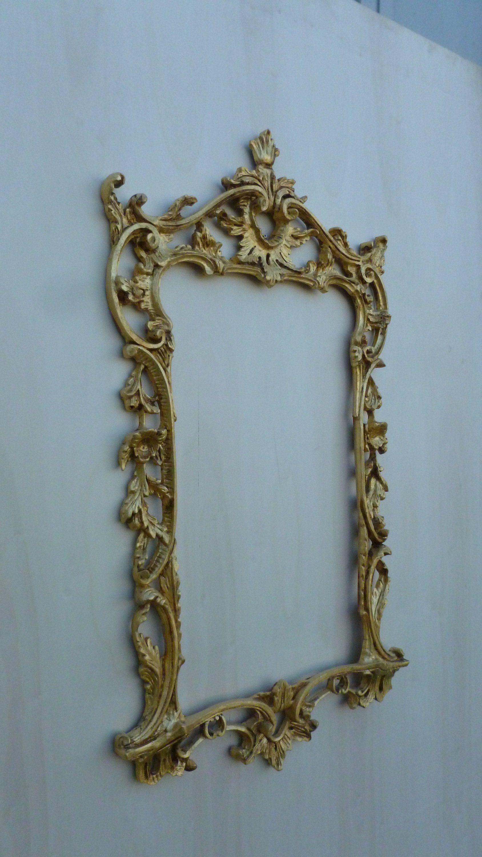 44afa28f6a5 Cornice da specchio in legno intagliata a mano stile barocco rococò ...