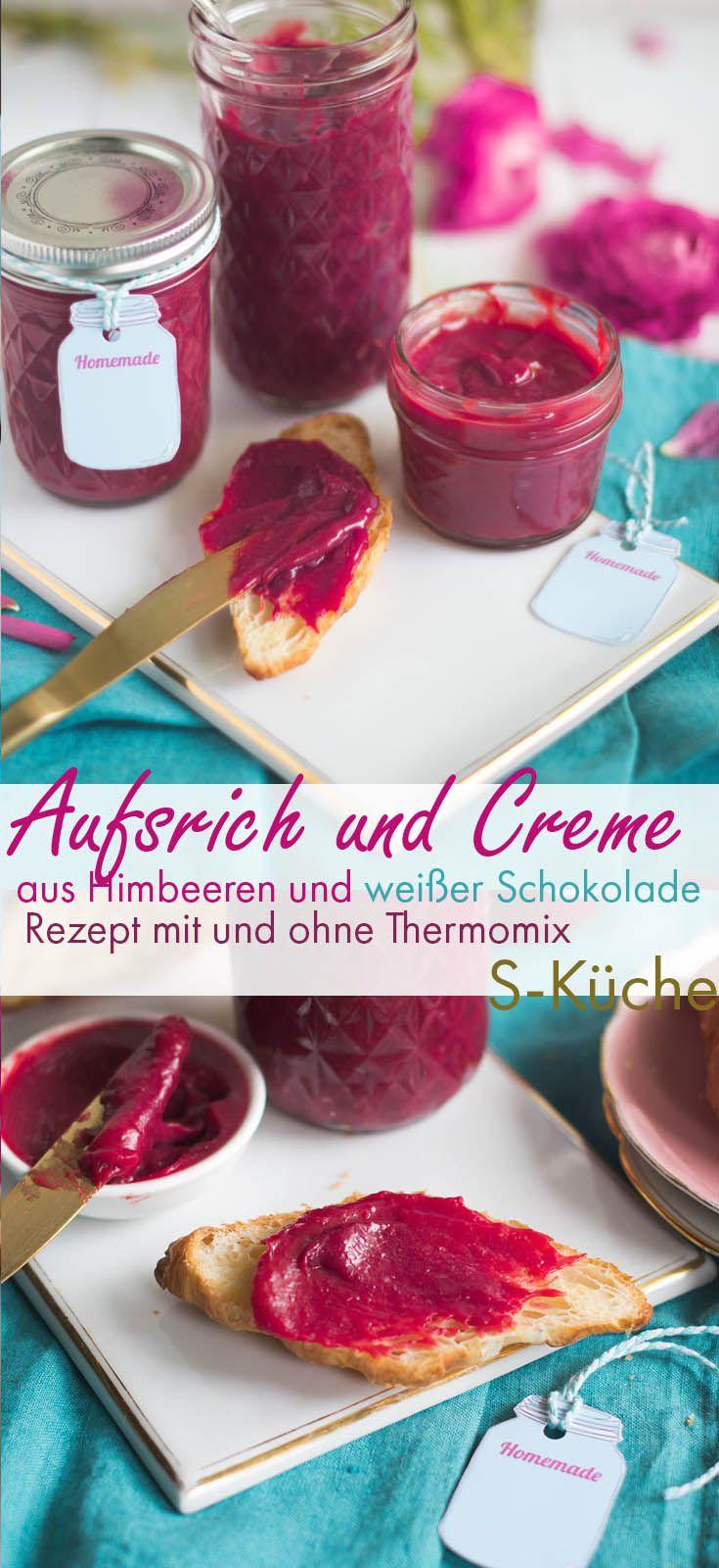 Aufstrich aus Himbeeren und weißer Schokolade Thermomix #sweetrecipes