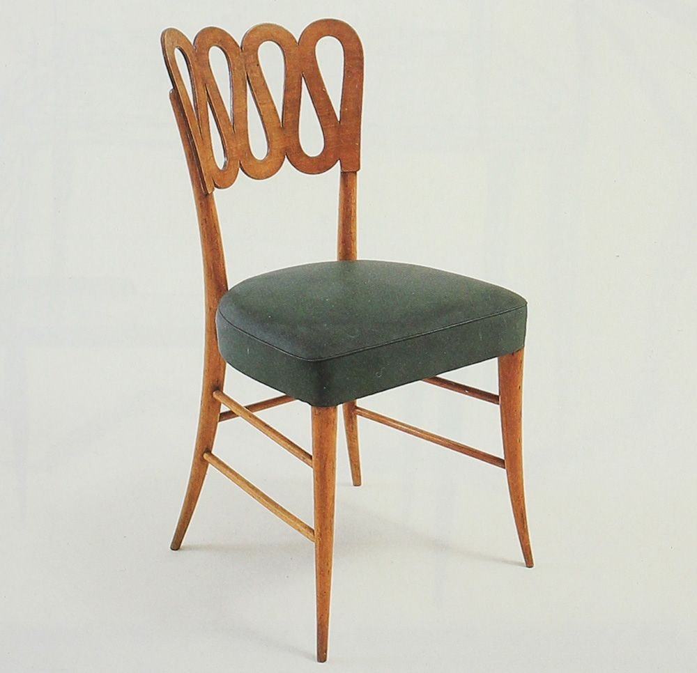 Lovely Gio Ponti / Rare And Early Chair From Conti Contini Bonaccossi, Florence U003c  Italian Masterworks
