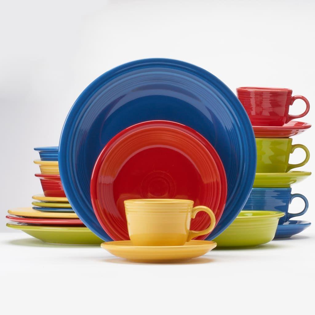 Fiesta Bright Colors 20 Pc Dinnerware Set Dinnerware Set Fiestaware Dinnerware Bright colored dinnerware sets