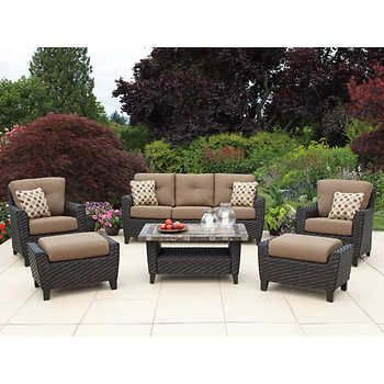Kingsley 6 Piece Deep Seating Set Outdoor Sofa Sets