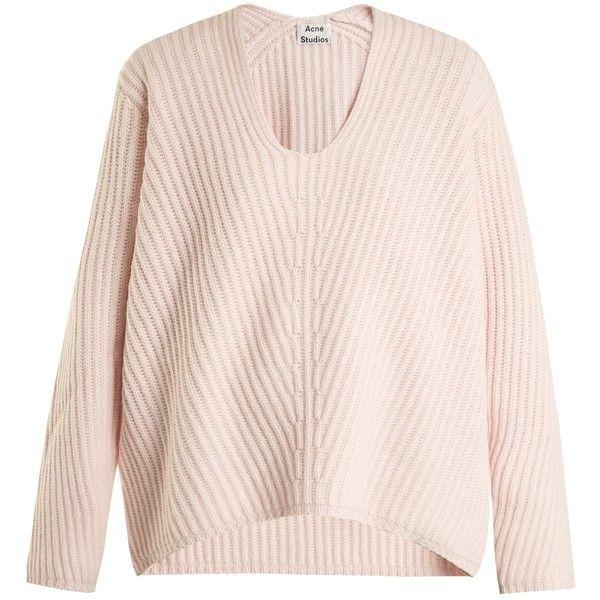 be7c45918 Acne Studios Deborah oversized V-neck wool sweater (535 LYD ...