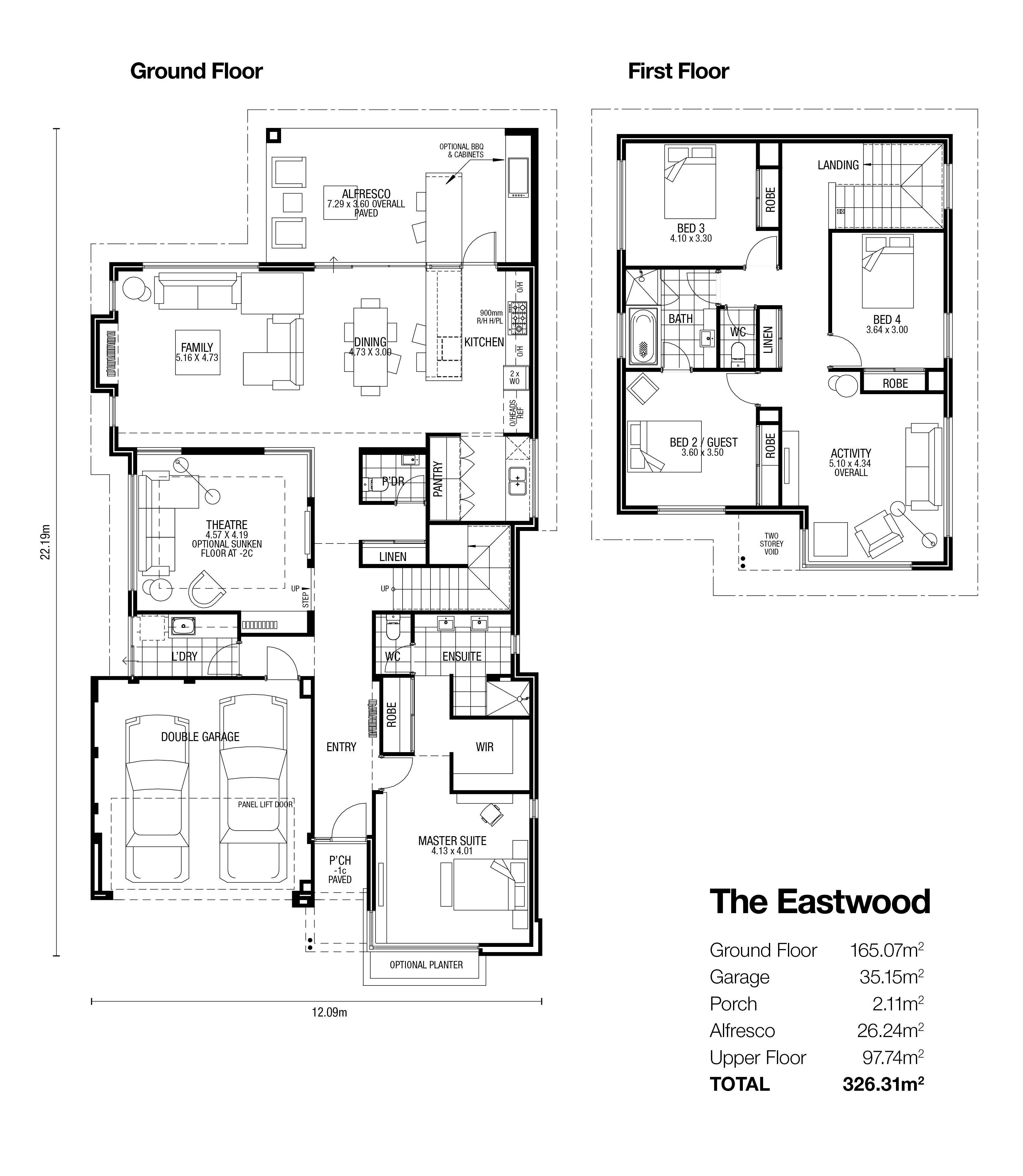 The Eastwood Display Homes Broadway Homes House Plans Australia Two Storey House Plans Double Storey House Plans