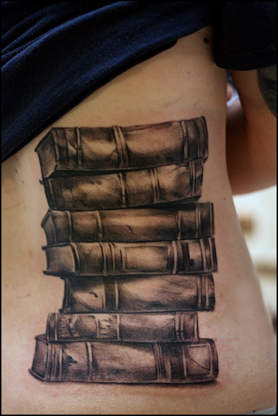 Bücher-Tattoo (book tattoos)
