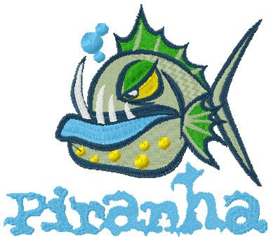 Piranha Free Embroidery Design Cartoon Free Embroidery Collection