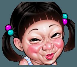 Tersenyum Koleksi Stiker Line Line Store Wajah Lucu Kartun Ekspresi Wajah