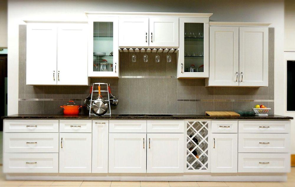 Kitchen Cabinets Solid Wood 10 x 10 RTA Soft Close White ...