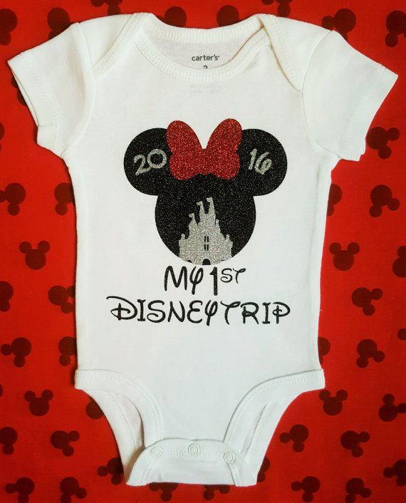 First Trip to Disney Baby Girl Shirt
