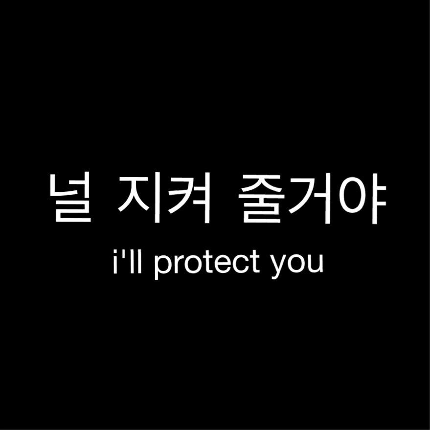 i ll protect you korean quotes